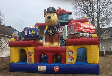 inflatables for rent in Wilmington, NC - funtimeInflatablesNC-PawPatrol-rental
