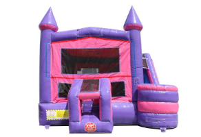 PINK CASTLE COMBO WET N DRY - inflatable rental